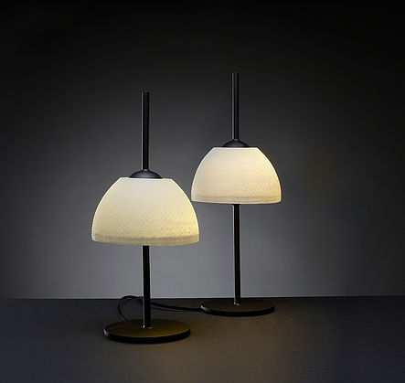 Nir Meiri 'SeaSalt' table lamps. The shades are made from sea salt and bio resin.