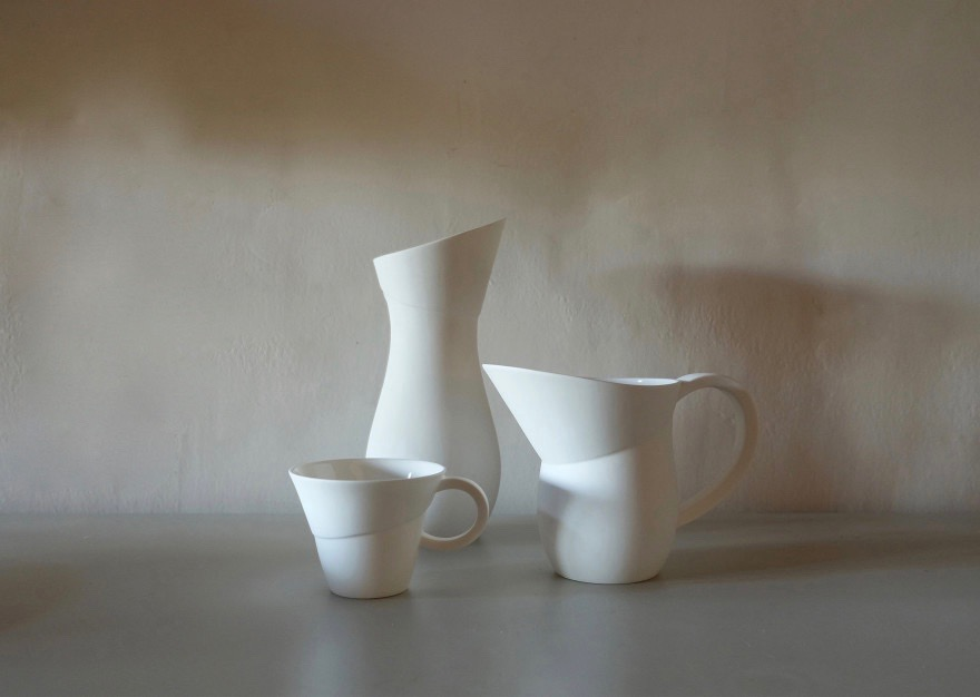 New ceramics from Pinch x 1882. The Fine Bone China vase, jug and teacup are just the start.