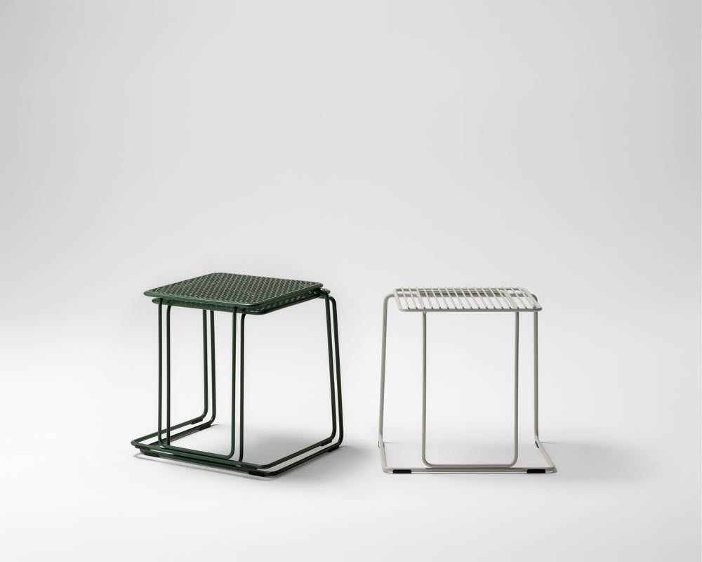 The 'Paperclip' low stool by Seaton McKeon for Stylecraft. Photograph: Adam Thomas