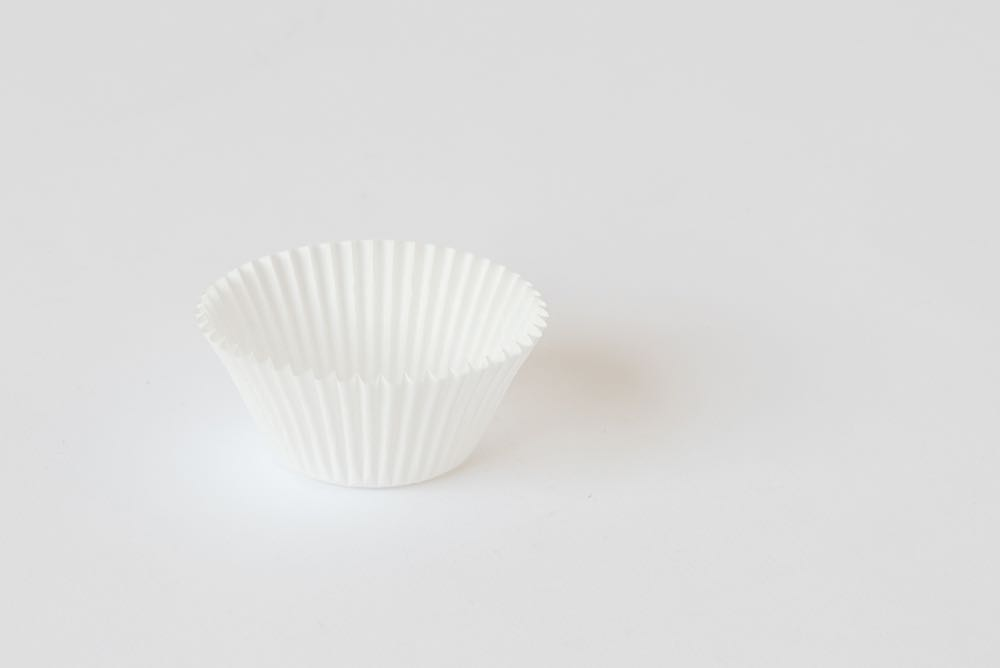 Paper cup cake wrapper selected by Helen Kontouris for Nic Rennie's exhibition  Undervalued .