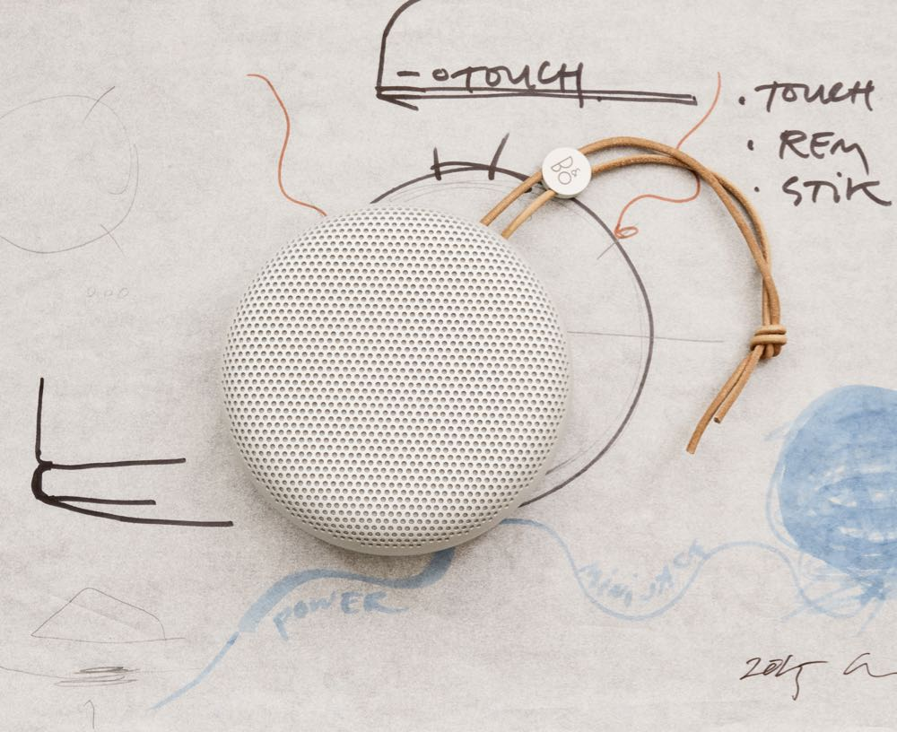 Manz's beautiful design for B&O shows her uncanny ability to soften technical objects. Shown here is her A1 bluetooth speaker for B&O Play from 2016.