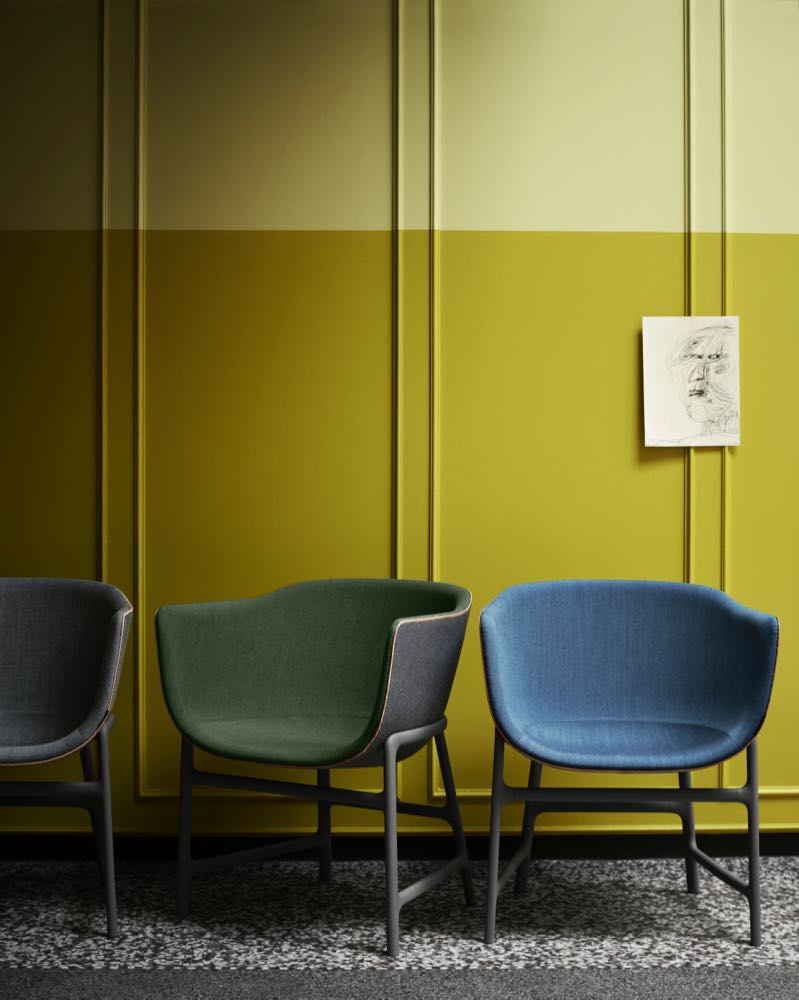Manz's 'Minuscule' chair for Fritz Hansen championed the use of plastic in a skeletal base. Photograph by Ditte Isager.