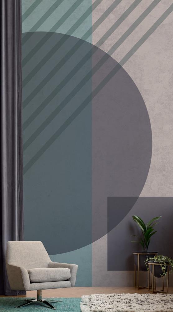 The 'Mireille' design by Mural Wallpaper.