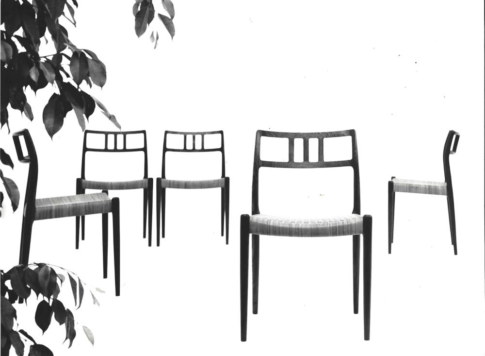 A sixties image of the Model 79 chair designed by Niels O. Møller in 1966.