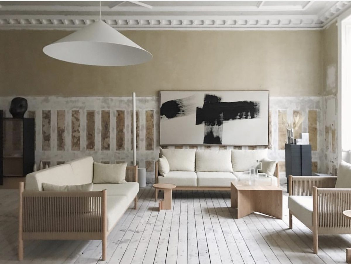 The Ariake Collection installation  A Quiet Reflection,  in conjunction with My Residence magazine. The installation deftly combined the distressed walls of its nineteenth century venue with immaculately period architraves and contemporary Wastberg lighting. Photograph by Andy Liffner.