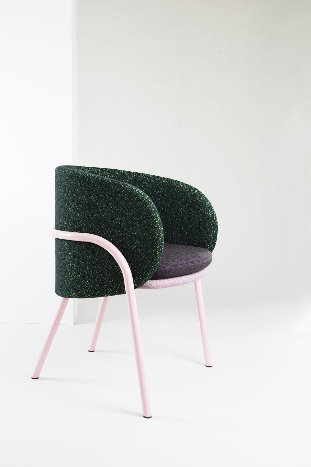 Nikolai Kotlarczyk's 'Wompoo' chair prototype.