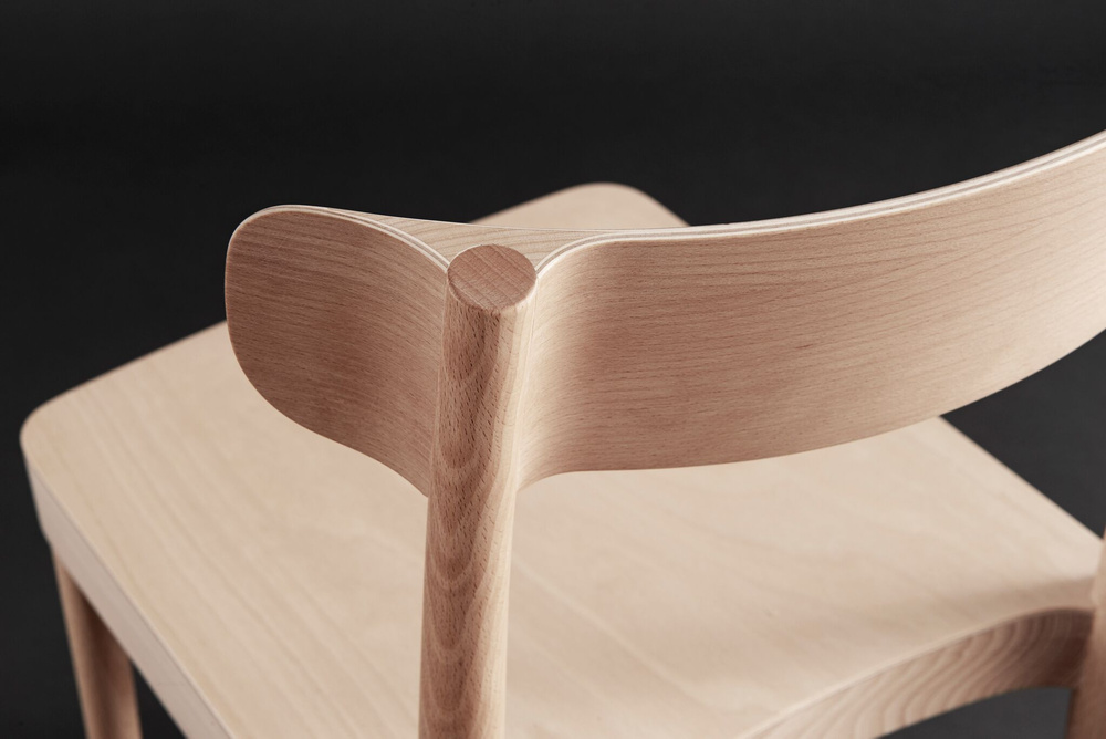 Detail of David Ericsson's 'Petite' chair for Gärsnäs.