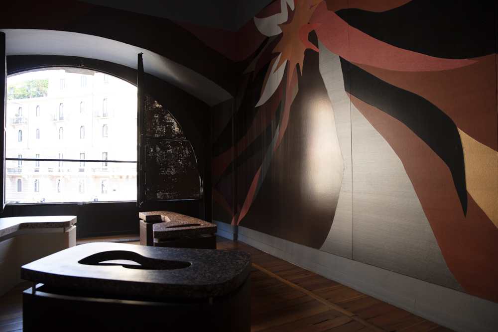 A scene from the Fromental wallpaper installation called  Meandros . Photograph by Craig Wall.