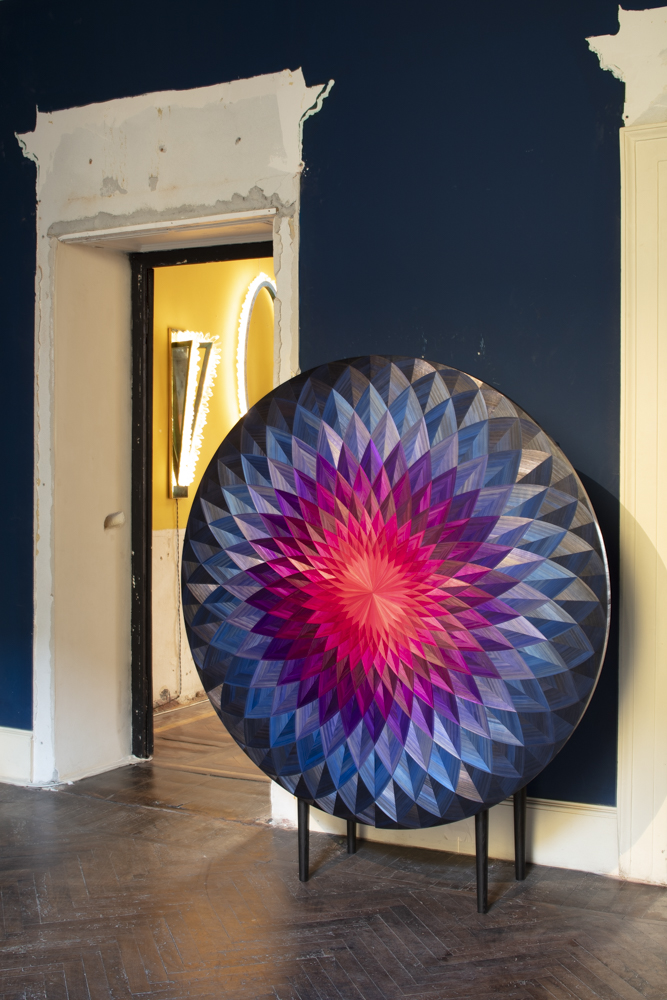 'Bloom' cabinet by Adam Goodrum and Arthur Seigur at LOCAL DESIGN Via Cesare Correnti 14 Milan.