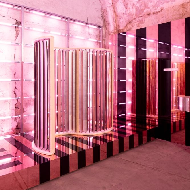 Mae Engelgeer's 'Honore' room divider at Transitions III - Ventura Centrale.