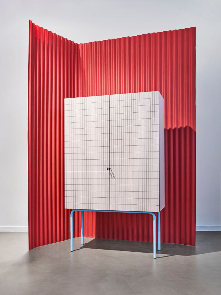 Elisa Ossino's 'Check' cabinet for SEM (Spotti Edizioni Milano). Photo by Omar Sartor.