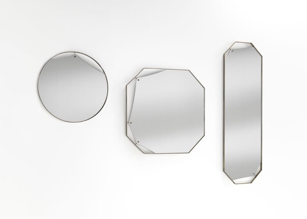 The 'Pinch' mirror collection by  Lanzavecchia + Wai  for   FIAM Italia .