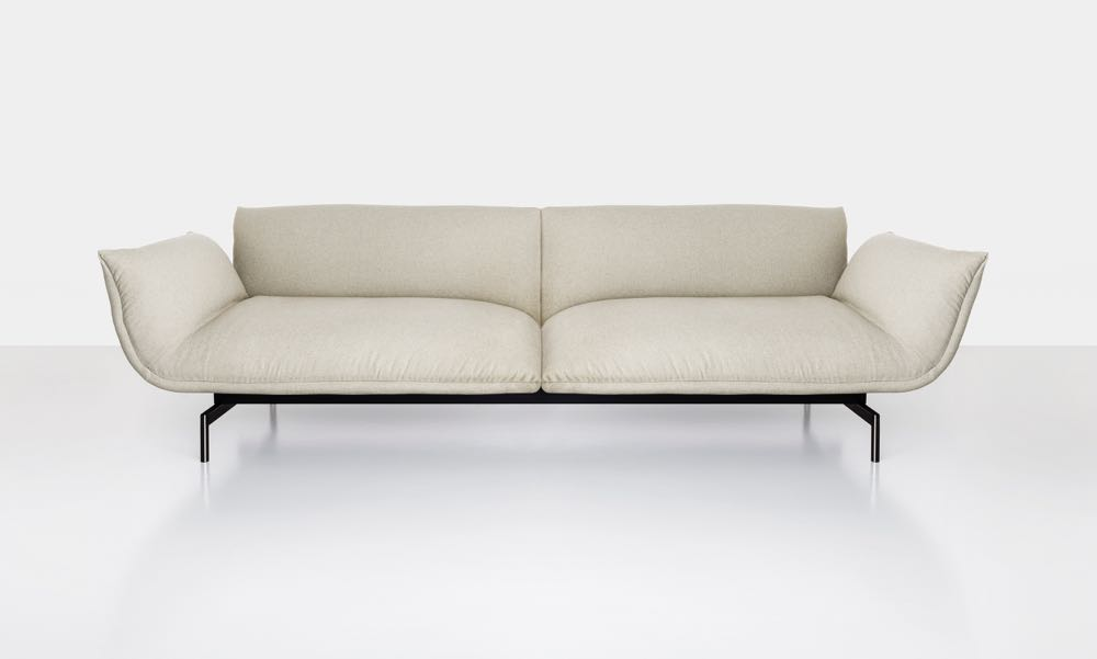The 'Tenso' sofa by Luca Nichetto for Kristalia.