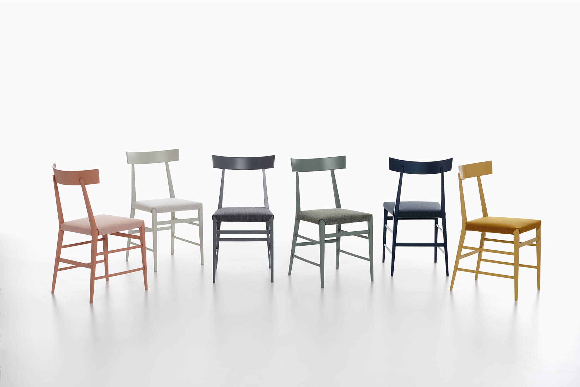 The 'Noli' dining / side chair by  Ludovica + Roberto Palomba  for Zanotta. The chair shows a strong influence from Gio Ponti's 'Superleggera' chair (which is no bad thing). Available in a host of lovely subdued colours, which along with its visual lightness will make it a favourite with designers.