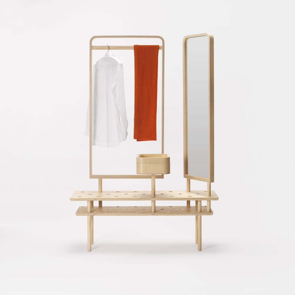 The 'Etta' wardrobe / screen / vanity by  Dossofiorito  for Zilio A&C.