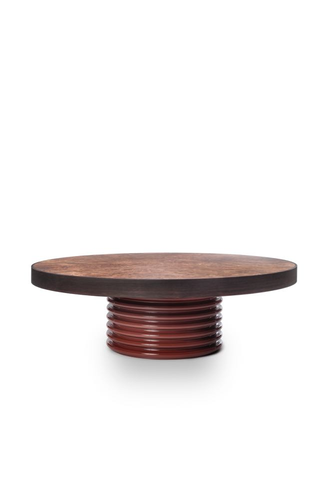 Low round 'QD 03' table by David Lopez Quincoces for Six Gallery.