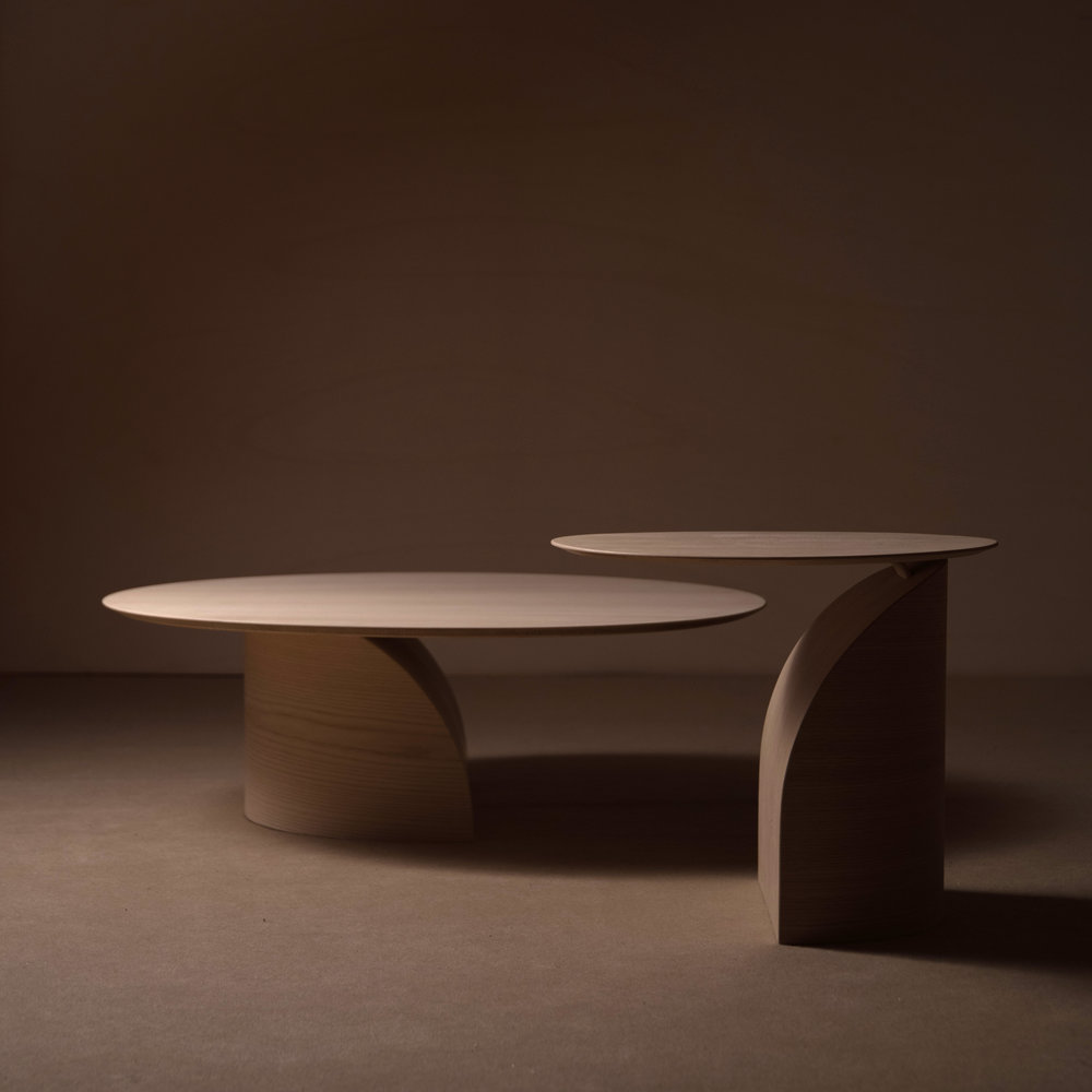 Sakari Hartikainen's 'Savoa' side tables - a beautifully lyrical exploration of balance.
