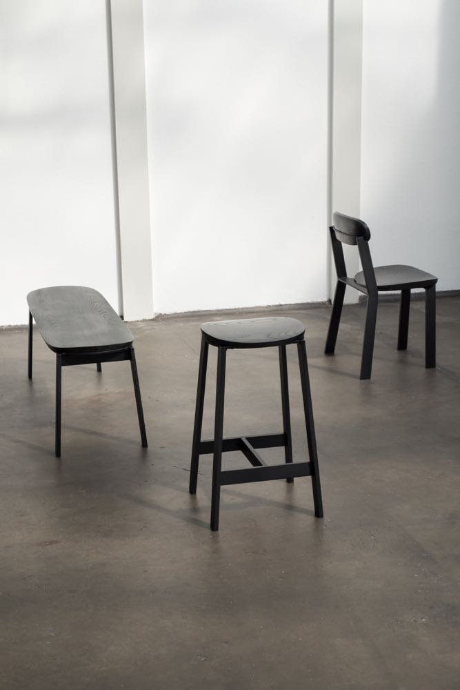 The 'Fond' collection by Studio Truly Truly. Made from aluminum and solid ash.
