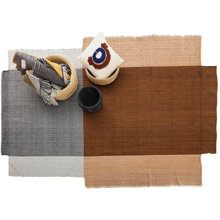 The 'Nobsa' rug in terracotta by Sebastian Herkner for Ames.