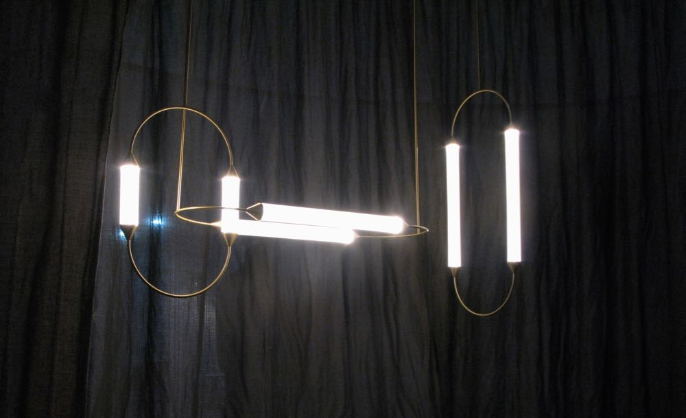 Giapato & Coombes on the District stand. Shown here is their wonderful 'Cirque' light fitting (1 large 3 version).