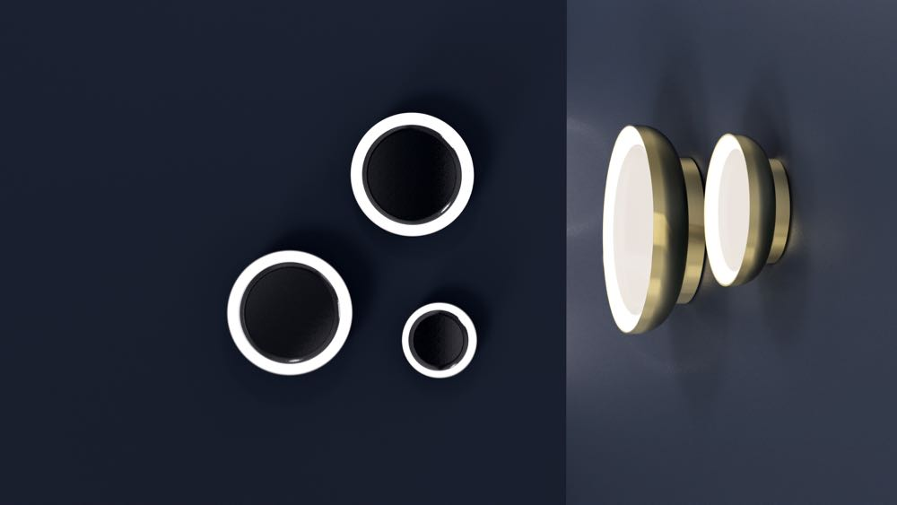 Ism Objects new spun metal wall lights called 'Edo'. This design is in a style that many designers are interpreting at present but Ism offers their lights in an IP 54 rated form for use outdoors and in bathrooms.