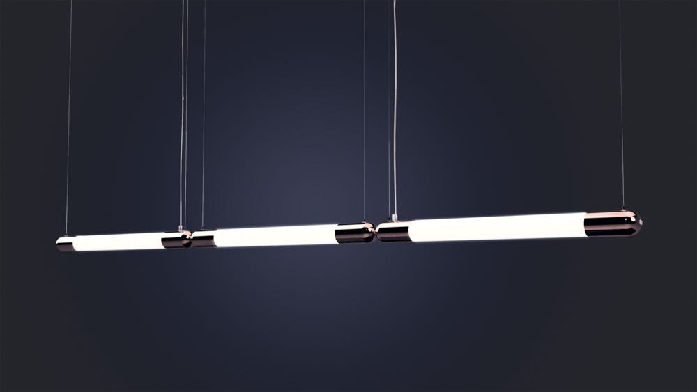ISM Objects new 'Snag' light references the humble sausage but is quite a technological feat. The fitting can be as long as required with double snags only requiring one power cable as the second fitting transfers  power from the first.