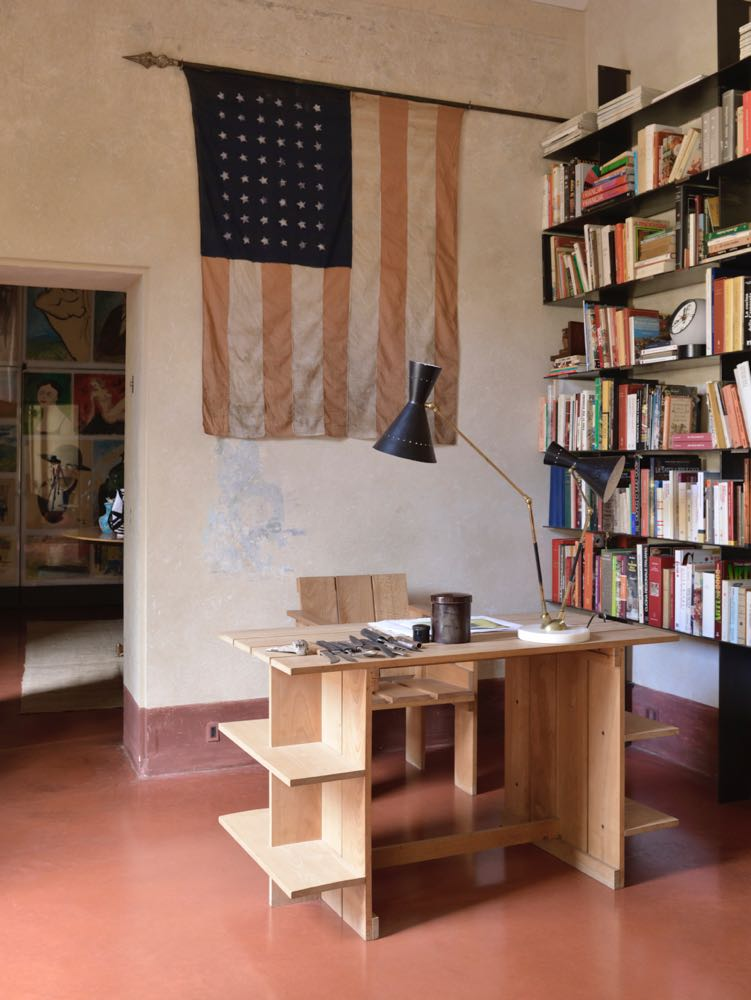 The home office of architect Roberto Baciocchi in Arezzo, Italy.