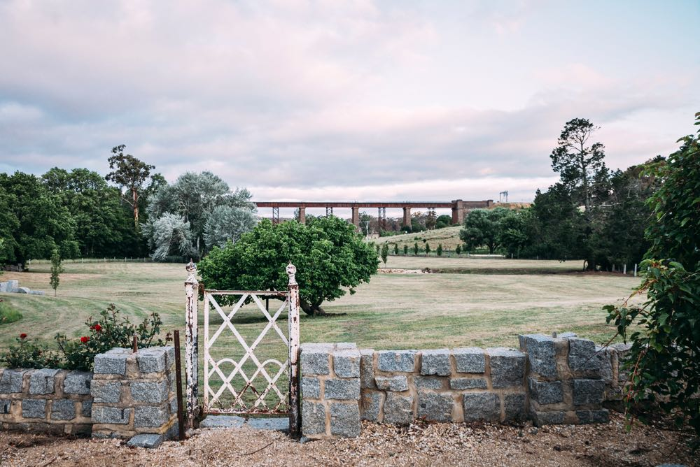 The view from the very first house we shot for The Alchemy of Things - the country house of Melbourne vintage dealer Geoffrey Hatty. The early 20th century railway bridge in the distance is the perfect view for an enthusiast of industrial design.
