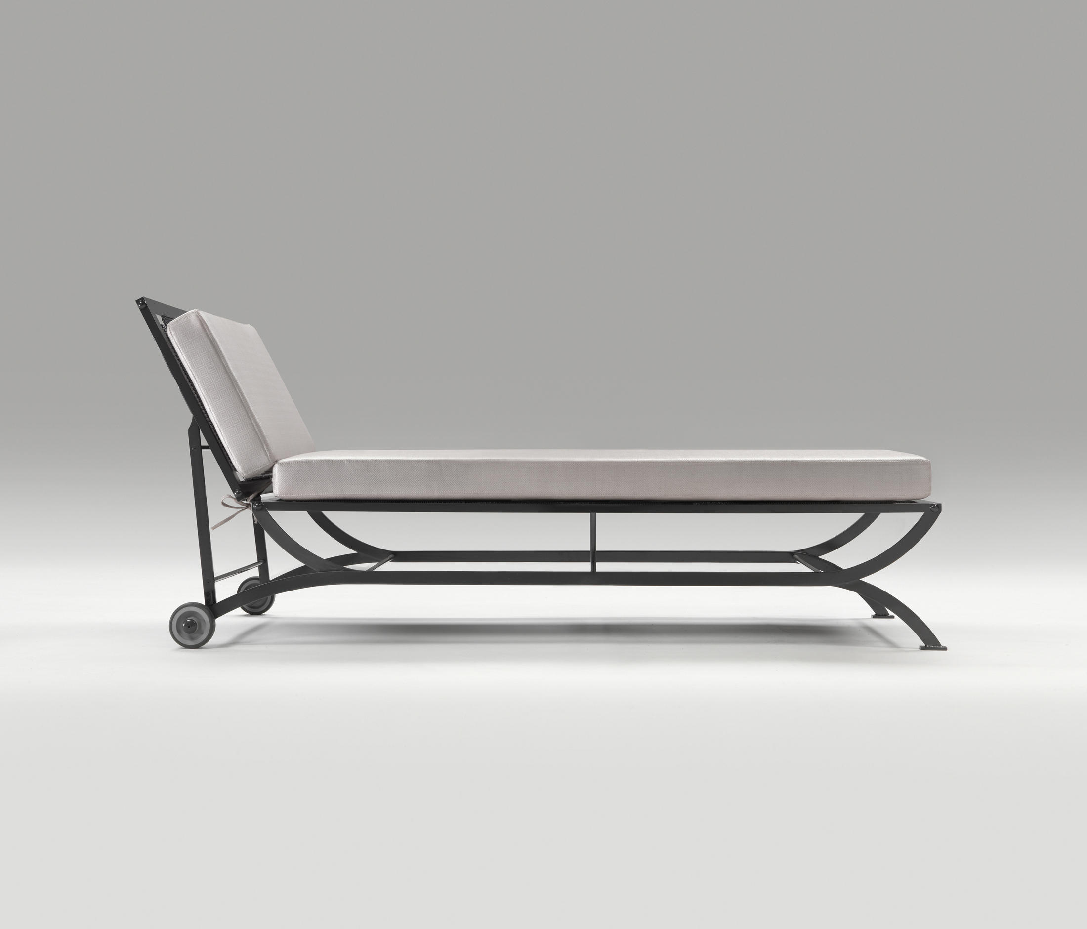 The Nonaro outdoor chaise from 1962 - part of an extensive outdoor collection including armchair, sofa, low table and stool being relaunched by B&B Italia.