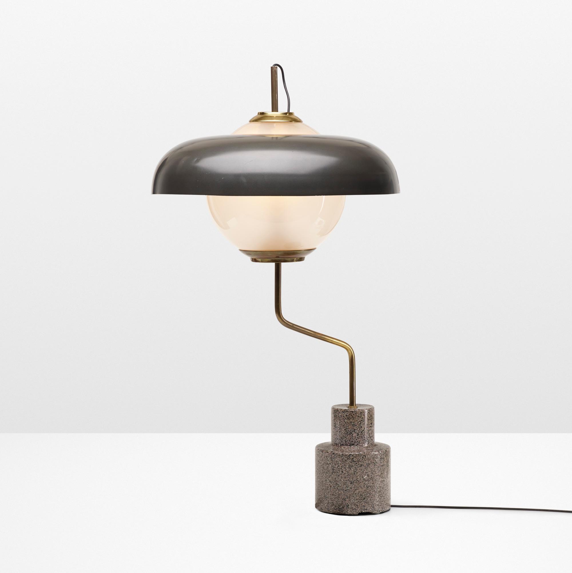 The Mikado table lamp model LTE 5 by Luigi Caccia Dominioni.