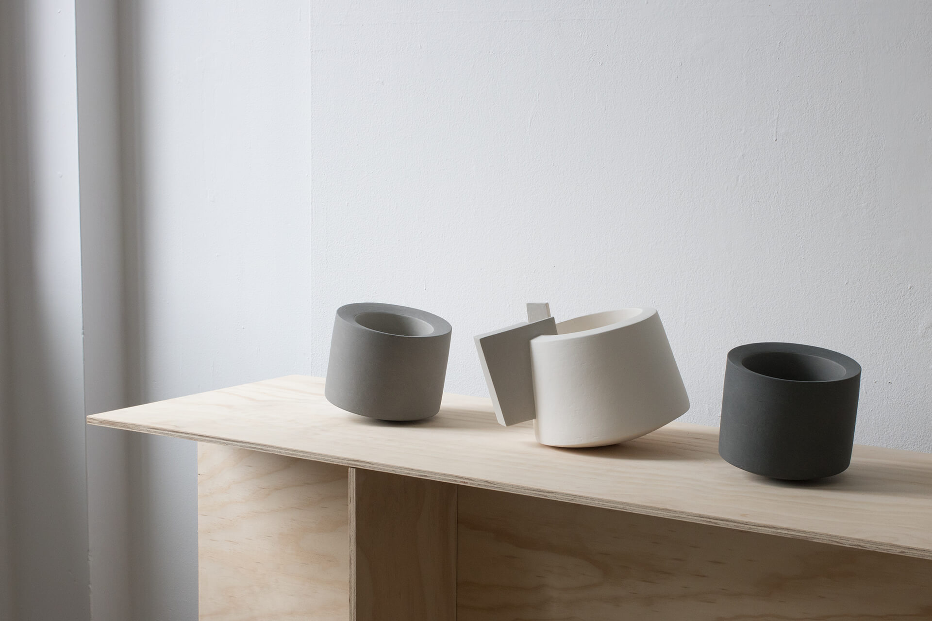 Vessels from Derek Wilson's 2011 Void series.