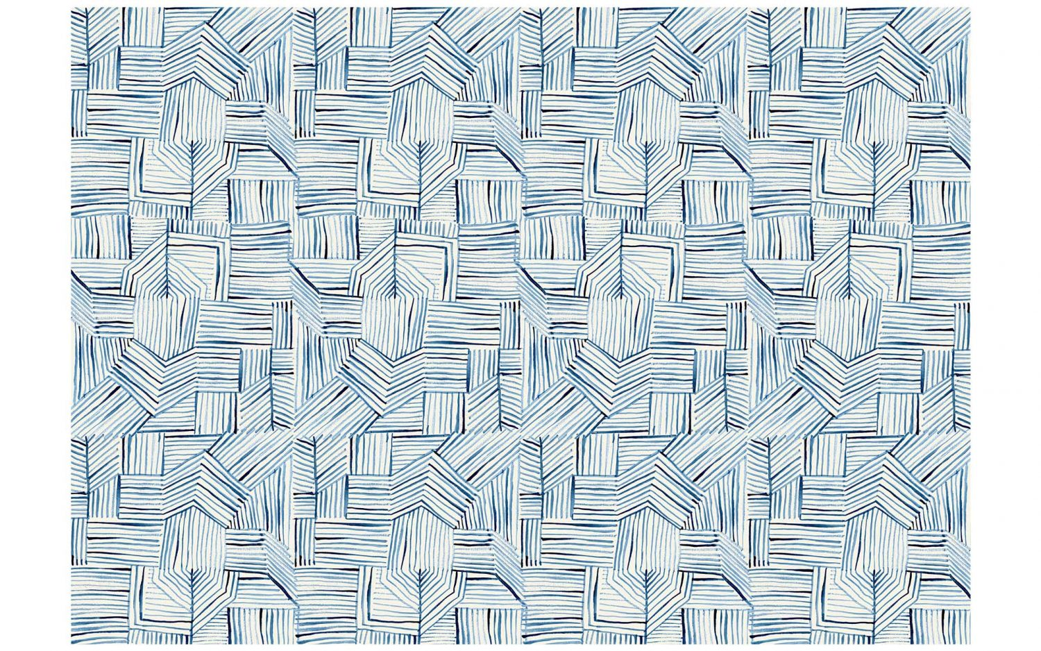 Donna Wilson Blue Lines rug for SCP.