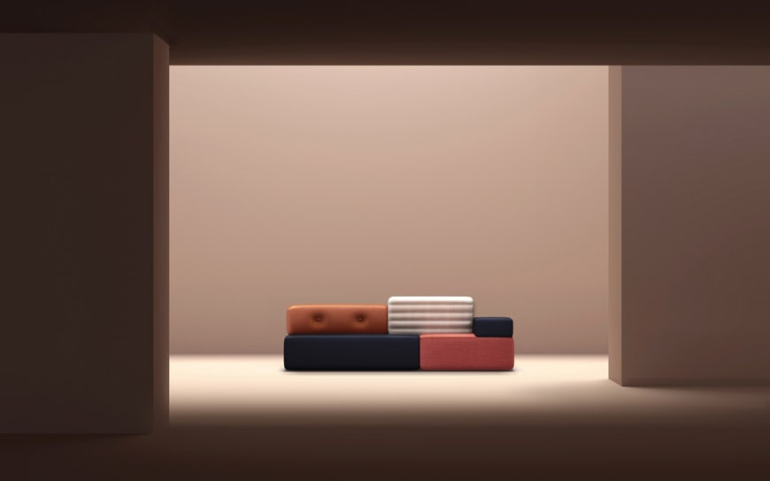 'Combo' modular sofa by Frank Chou.
