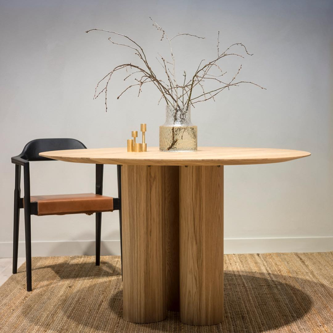 'Hommage Grand' table by Matti Carlson for historical Swedish brand  Tre Sekel.
