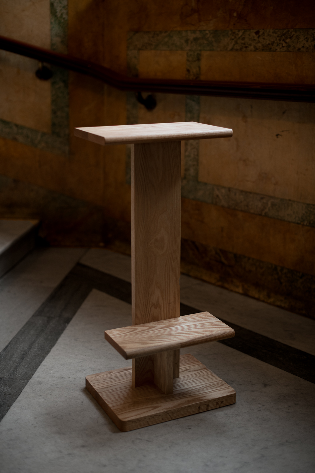 The 'Tawa' barstool by Anderssen & Voll for Ariake - more religious alter than barfly bar stool but oh so good! Photograph by Sebastian Stadler.
