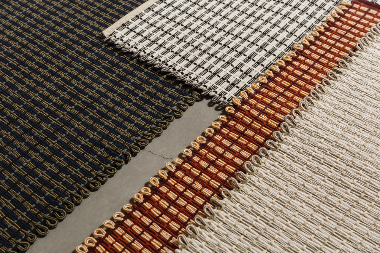 Close up of Pauline Deltour's 'Rope' rugs for HEM.