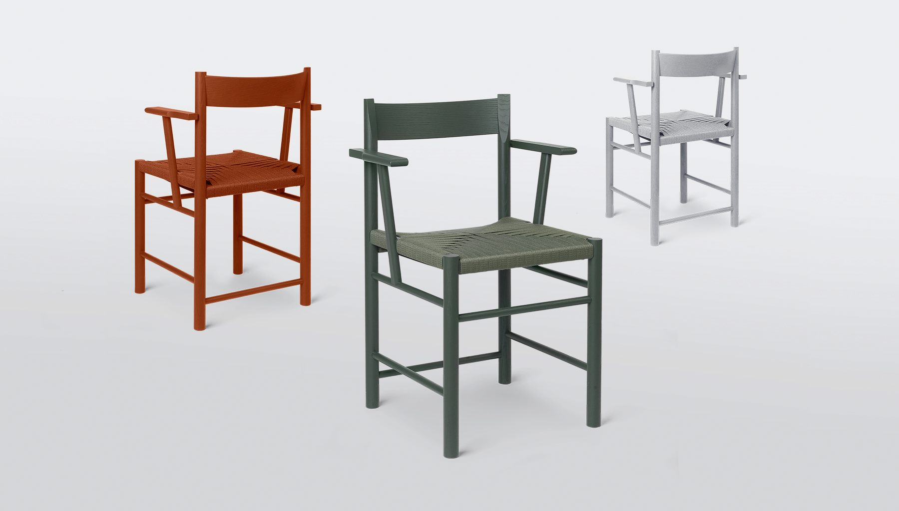 The 'F' chair by Rasmus Bækkel Fex has been out since mid 2017 but the collection remained a key focus of the brand's presentation at Stockholm Furniture & Lighting Fair as a version with arms was added.