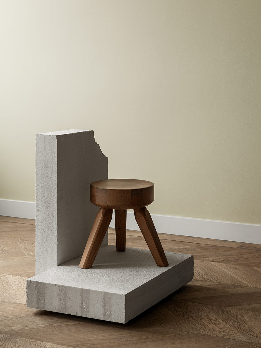 Frama's new 'A.M.L' stool is a real beauty. Designed by Frama collaborator architect Andreas Martin-Löf, the stool embodies the simple country feel of Charlotte Perriand stools for Gallerie S. Bensimon but with a chunkier, more chiseled aesthetic.