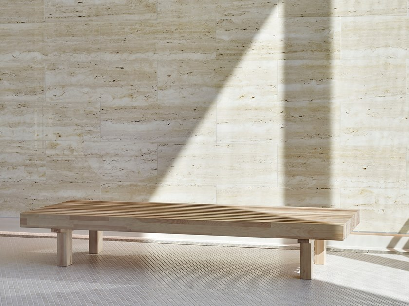 The new 'Laveri' bench by  Ulla Koskinen  for Woodnotes.