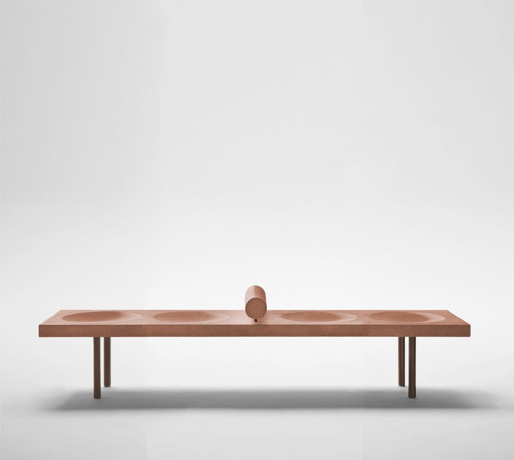 'Domino Concreto Bench' by Claudia Moreira Salles for leading Brazilian design gallery, ESPASSO.