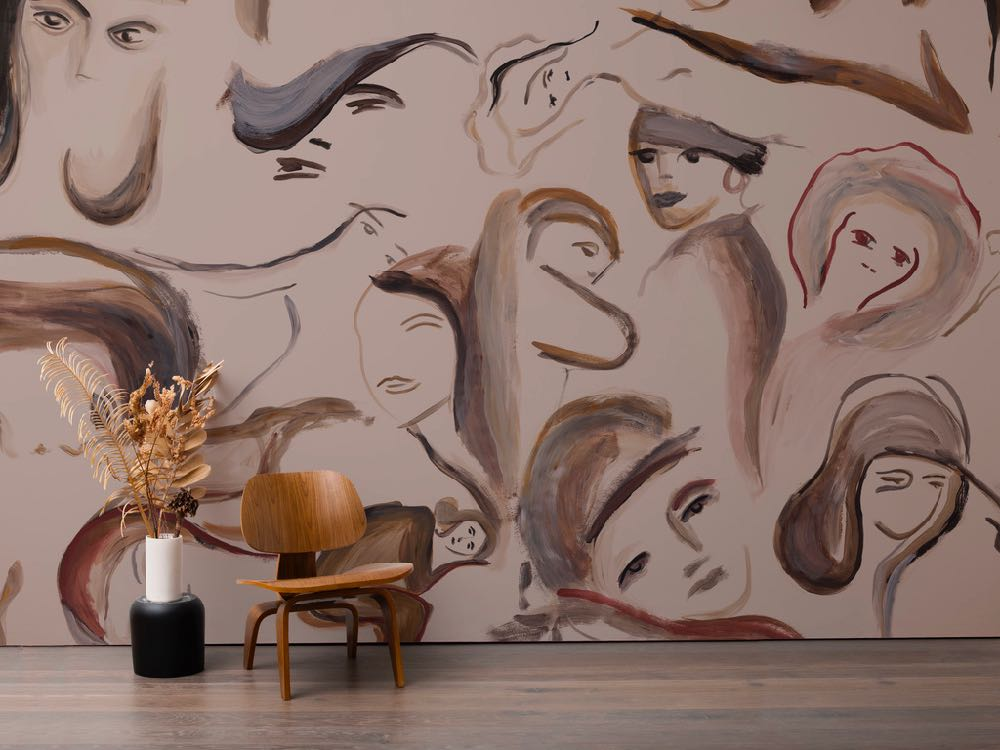 New York's Calico Wallpaper teams up with British designer Faye Toogood for a new wallpaper called 'Muse' where the female form is the focus. The design came about after last years' Vogue Italia event  Life in Vogue  during Milan Design Week. Toogood created the design as part of a one-off installation in the magazine's offices.