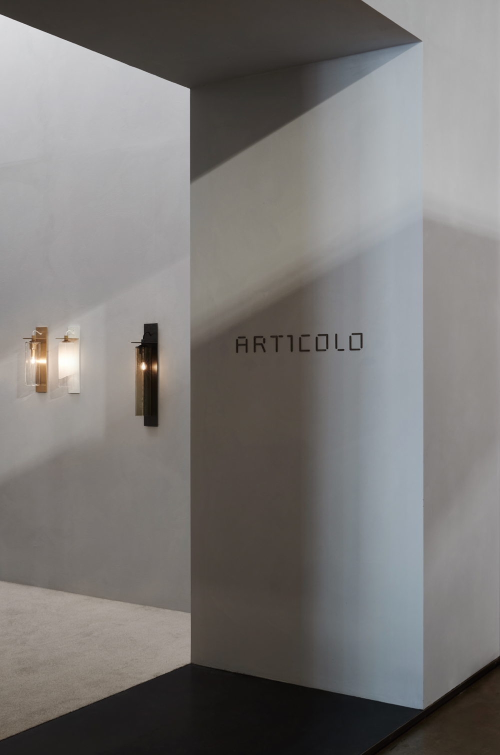 Entrance to the Articolo stand at Euroluce 2019. Photograph: Willem-Dirk du Toit.