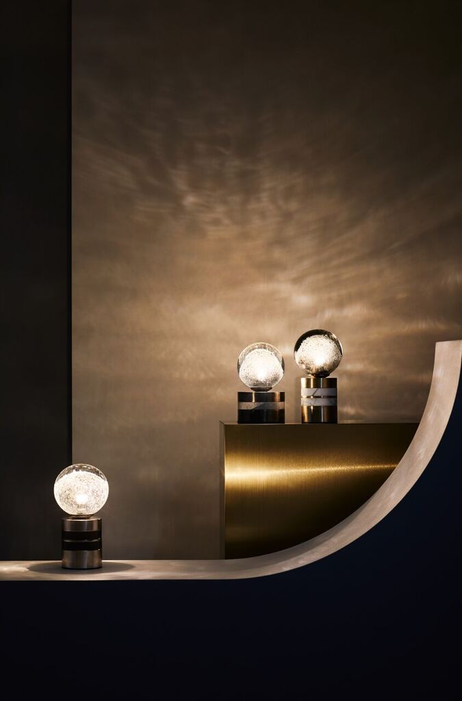 Articolo Fizi Short and Tall table lamps in the Melbourne showroom. Photography Sharyn Cairns.