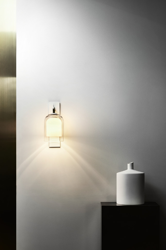 Articolo's Lumi wall sconce at the Melbourne showroom. Photograph by Sharyn Cairns.