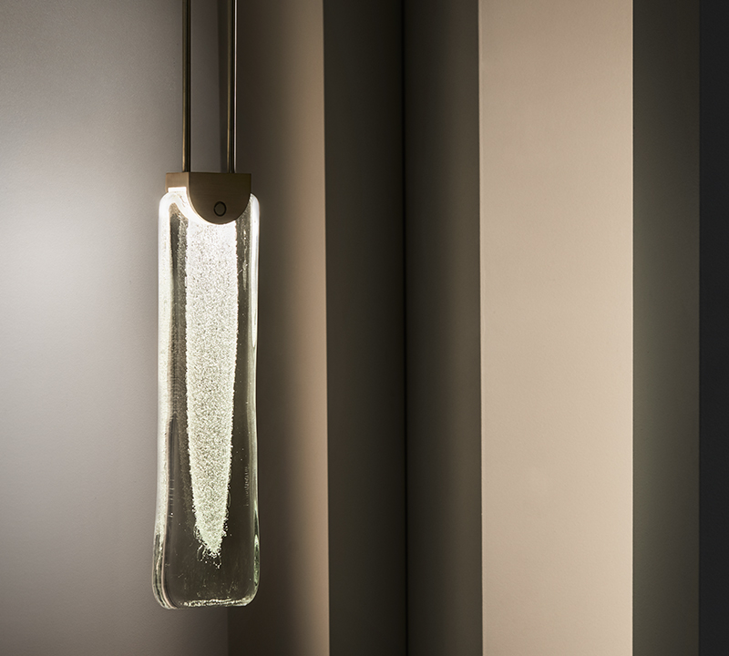 The amazing Fizi Slab pendant in bronze. Tiny captured bubbles are a feature of many Articolo designs.