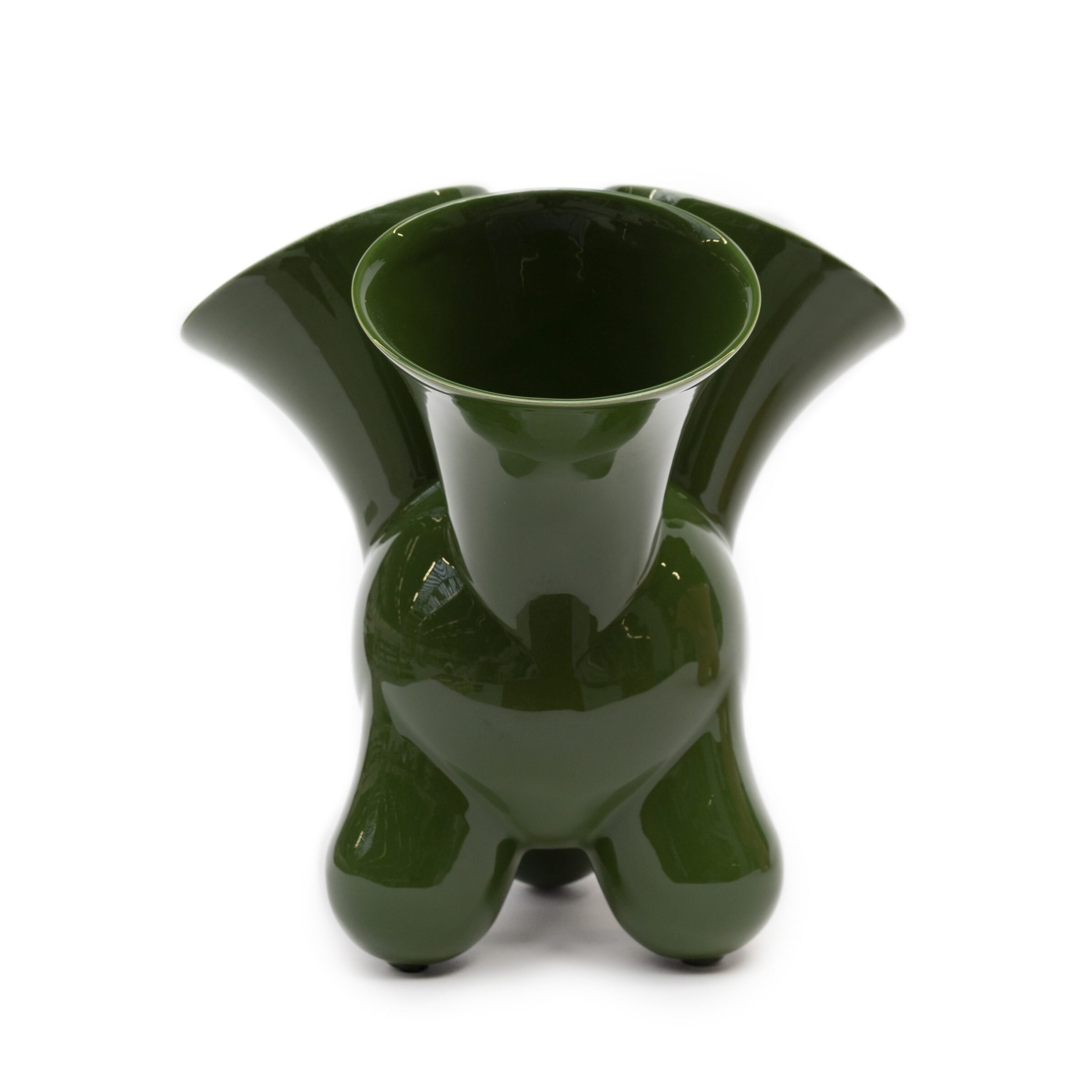 The 'Doodle' vase in Leaf Green by Roderick Vos for Dutch ceramics company Cor Unum.