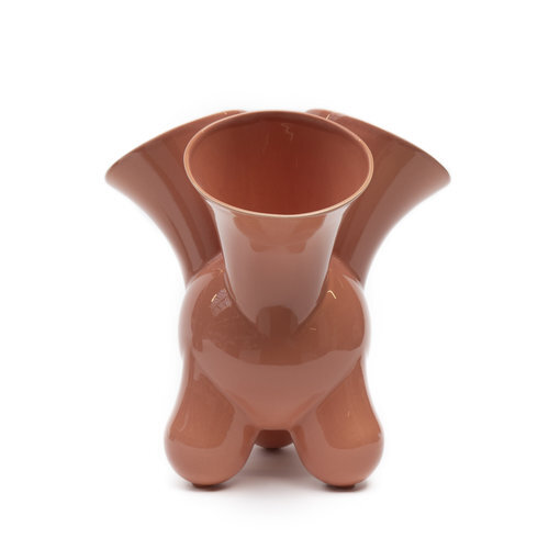 The 'Doodle' vase in Apricot Wash by Roderick Vos for Dutch ceramics company Cor Unum.