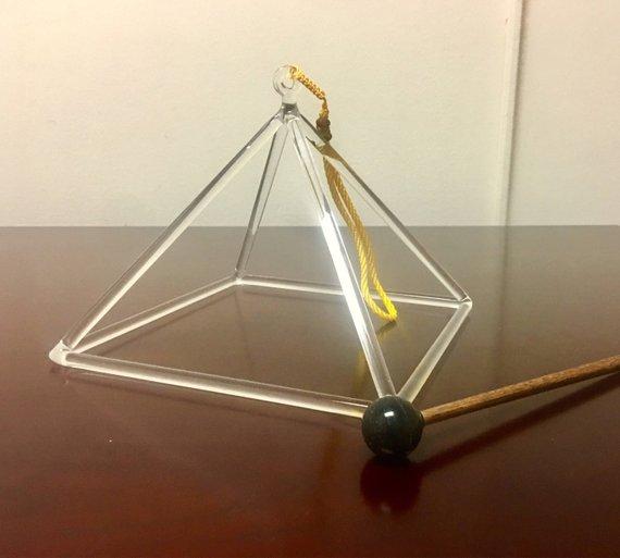 The Crystal Pyramid Sound Healing Tool.