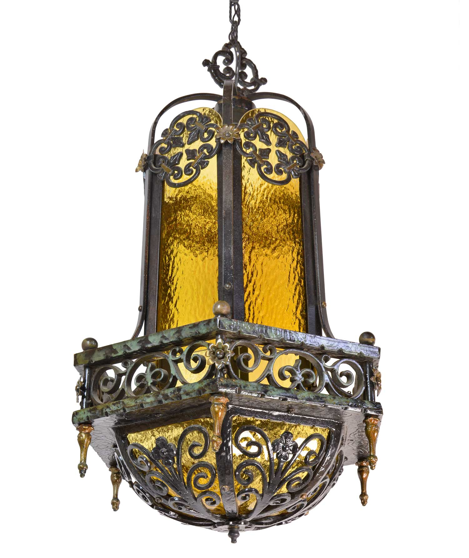 45961-bent-amber-glass-and-iron-chandelier-with-floral-details-angle.jpg