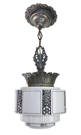 http://www.archantiques.com/sold/pair-art-deco-cast-iron-stepped-shade-pendants